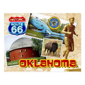 Historic Route 66 Oklahoma Postcard