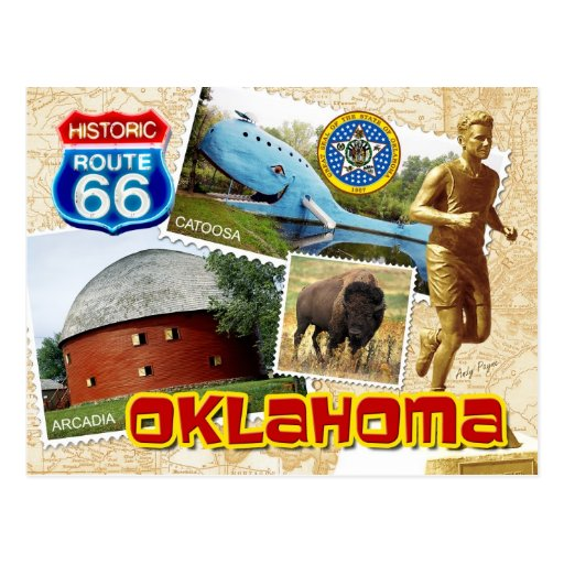 Historic Route 66, Oklahoma Postcard