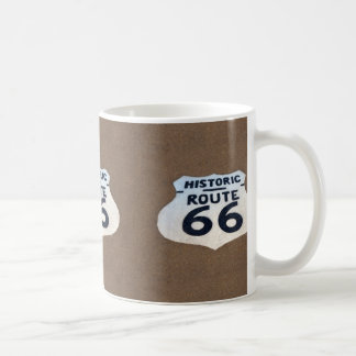 Historic Route 66 Pavement Sign Classic White Coffee Mug