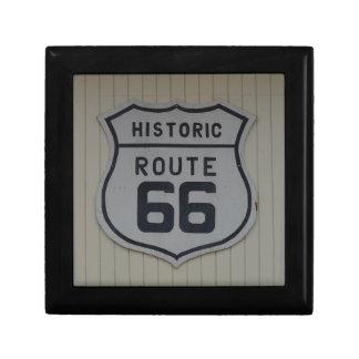 Historic Route 66 retro sign Jewelry Box