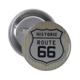 Historic Route 66 retro sign Pinback Button