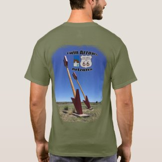 Historic Route 66 ~ Twin Arrows, Arizona T-Shirt