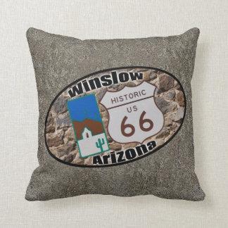 Historic Route 66 ~ Winslow, Arizona Throw Pillow