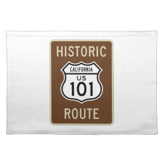 Historic Route U.S. Route 101 (California) Sign Cloth Placemat
