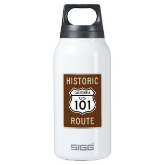 Historic Route U.S. Route 101 (California) Sign Insulated Water Bottle