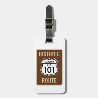 Historic Route U.S. Route 101 (California) Sign Tags For Luggage