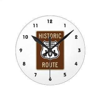 Historic Route U.S. Route 101 (California) Sign Round Wallclock