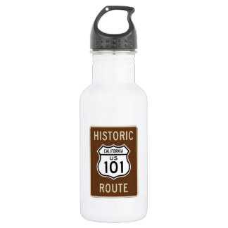 Historic Route U.S. Route 101 (California) Sign Water Bottle