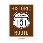 Historic Route US 101 California (Sign) Post Cards