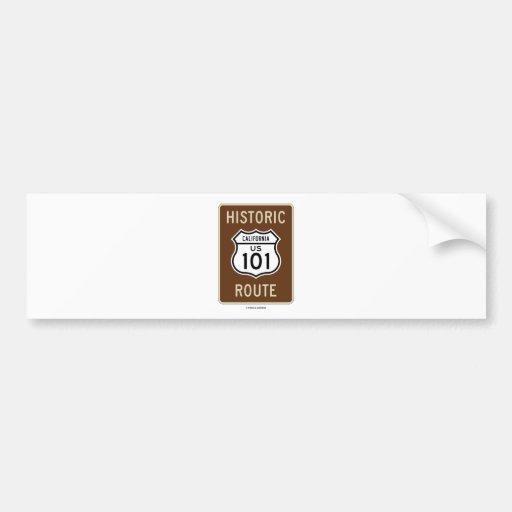 Historic Route US Highway 101 (California) Bumper Sticker