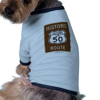 Historic Route US Highway 50 (California) Doggie Tee Shirt