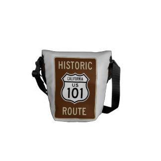 Historic Route US Route 101 (California) Sign Messenger Bag