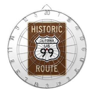 Historic Route US Route 99 (California) Sign Dartboards