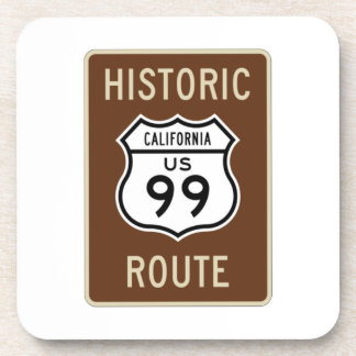 Historic Route US Route 99 (California) Sign Drink Coaster