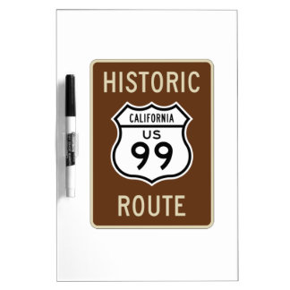 Historic Route US Route 99 (California) Sign Dry Erase Whiteboards