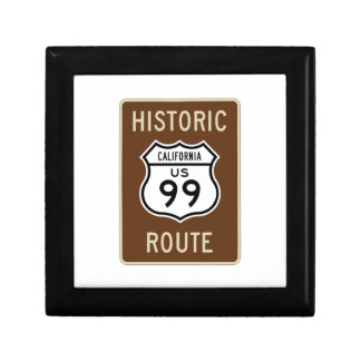 Historic Route US Route 99 (California) Sign Gift Boxes