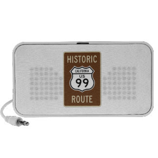 Historic Route US Route 99 (California) Sign Mini Speakers