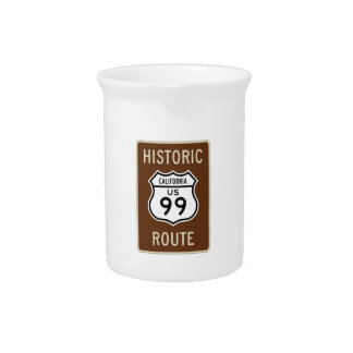Historic Route US Route 99 (California) Sign Pitchers