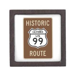 Historic Route US Route 99 (California) Sign Premium Jewelry Box