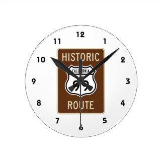 Historic Route US Route 99 (California) Sign Round Clock