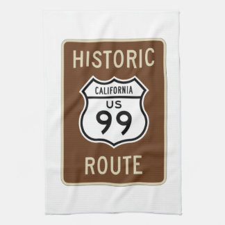 Historic Route US Route 99 (California) Sign Towel