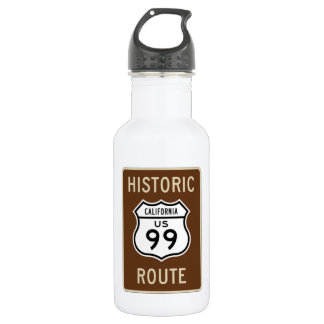Historic Route US Route 99 (California) Sign Water Bottle