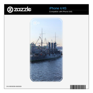 Historic Russian Cruiser Aurora Decal For iPhone 4