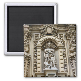 historic san diego architecture 2 inch square magnet