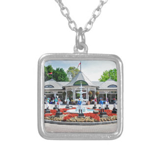 Historic Saratoga 150 on Opening Day Silver Plated Necklace