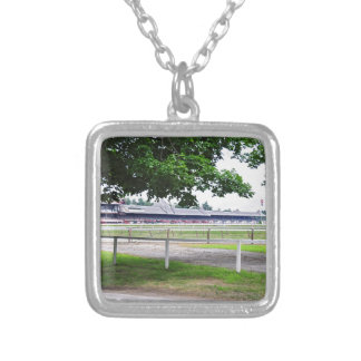 Historic Saratoga and Clare Court Silver Plated Necklace
