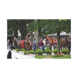 "Historic Saratoga Race Course ""Phipps Stables"" Canvas Print"