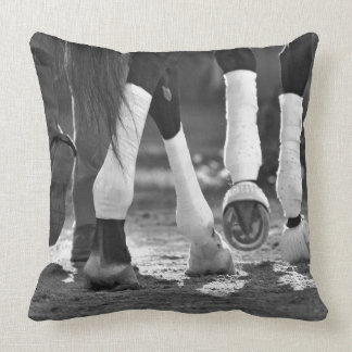 Historic Saratoga Race Course-Step Nicely Throw Pillow