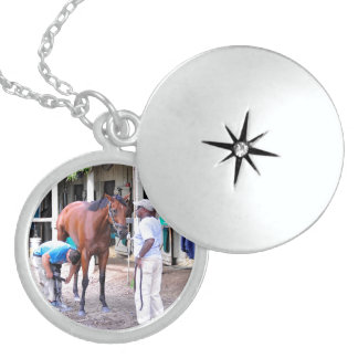 Historic Saratoga Racetrack Sterling Silver Necklace