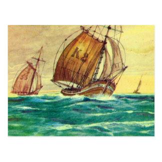 Historic Ships  French fishing boats Postcard