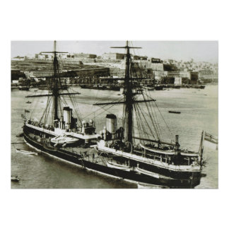 Historic Ships HMS Inflexible Poster