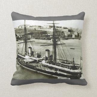 Historic Ships HMS Inflexible Throw Pillows