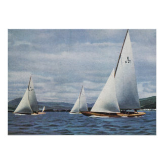 Historic Ships  International Eight metre yachts Poster