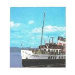 Historic Ships Waverley, British steam yacht Memo Notepad