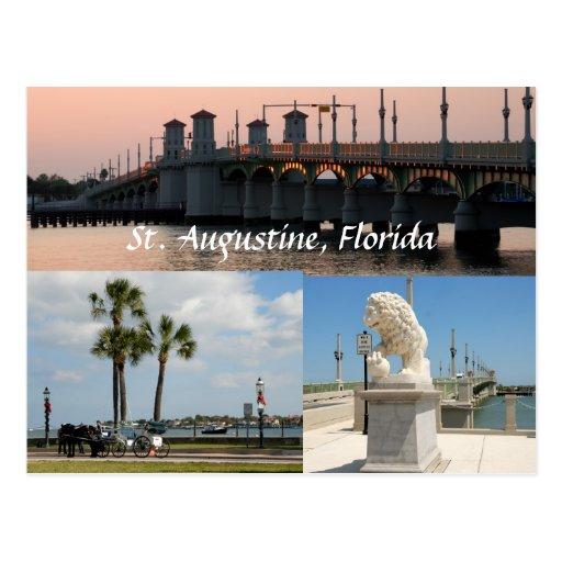 historic sites at st. augustine floirida usa postcards