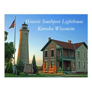 Southport postcards zazzle historic southport lighthouse postcard colourmoves