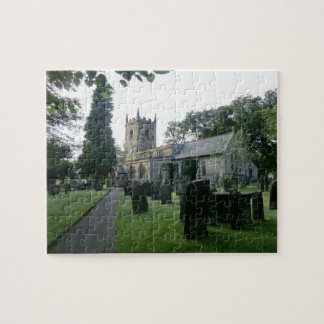 Historic St Lawrence's Church in Eyam, Derbyshire Jigsaw Puzzle