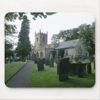Historic St Lawrence's Church in Eyam, Derbyshire Mousepads