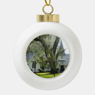Historic St. Simons Ceramic Ball Christmas Ornament