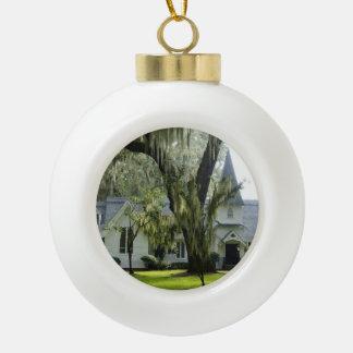 Historic St Simons Ceramic Ball Christmas Ornament