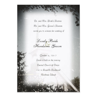 Historic Stone Church Mackinac Wedding Invitation