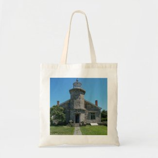 Historic Stonington Lighthouse Tote Bag