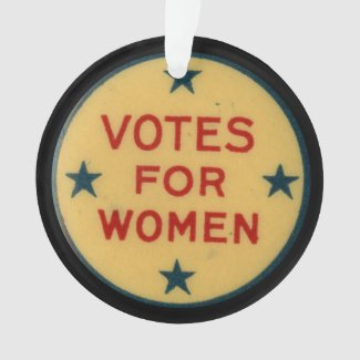 Historic Suffrage Pin  Collectable Ornament