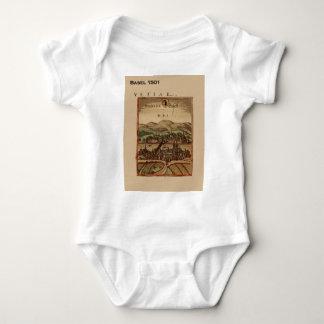 Historic Switzerland, 16th century town Baby Bodysuit