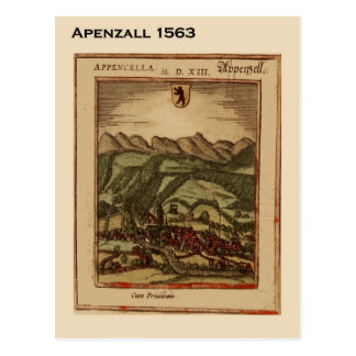 Historic Switzerland, Appenzall 1563 Postcard