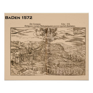 Historic Switzerland, Baden 1572 Poster